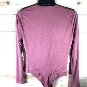Lovers + Friends Tops - NWT Lovers + Friends Ryder Bodysuit in Mauve